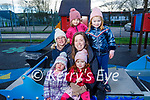 Aoibhe and Monica Gawrys, Fiona, Cathy and Maeve McGrath and Sofia Gawrys enjoying a stroll in the Listowel town park on New Years Eve.