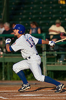 Brett Jackson (13) of the Daytona Cubs during a game vs. the St. Lucie Mets May 17 2010 at Jackie Robinson Ballpark in Daytona Beach, Florida. St. Lucie won the game against Daytona by the score of 5-2.  Photo By Scott Jontes/Four Seam Images