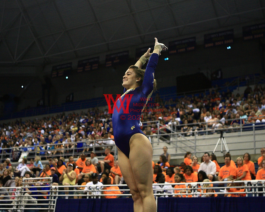 Women 2010 NCAA Gymnastics Championships hosted at the University of Florida in Gainesville, FL.  April 24th, 2010.