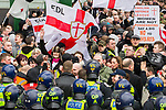 © Joel Goodman - 07973 332324 - all rights reserved . 05/02/2011 . Luton , UK . The English Defence League ( EDL ) hold a march and demonstration against Islamic fundamentalism in Luton . Photo credit : Joel Goodman