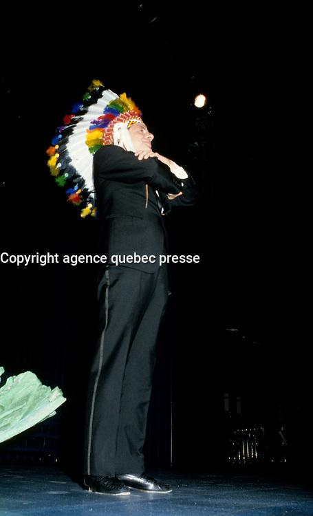 Guy Fournier<br />  at Television Quatre Saison Launch, August 28, 1986.