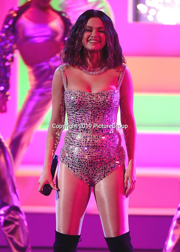 LOS ANGELES, CA - NOVEMBER 24:  Selena Gomez at the 2019 American Music Awards at the Microsoft Theater on November 24, 2019 in Los Angeles, California. (Photo by Frank Micelotta/PictureGroup)