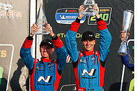 #98 Byan Herta Autosport W Curb-Agajanian Hyundai Veloster N TCR, TCR: Mark Wilkins, Michael Lewis, podium