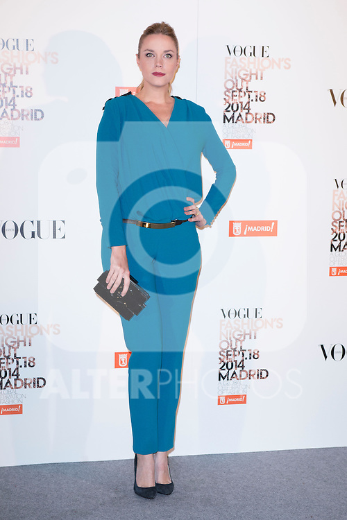 """Carolina Bang attends the """"VOGUE FASHION NIGHT OUT"""" Photocall at Jose Ortega y Gaset street in Madrid, Spain. September 18, 2014. (ALTERPHOTOS/Carlos Dafonte)"""