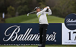JEJU, SOUTH KOREA - APRIL 21:  Hong Chang Kyu of South Korea plays a tee shot during the pro - am of the Ballantine's Championship at Pinx Golf Club on April 21, 2010 in Jeju island, South Korea. Photo by Victor Fraile / The Power of Sport Images