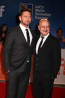 GERARD BUTLER AND ANUPAM KHER - RED CARPET OF THE FILM 'THE HEADHUNTER'S CALLING' - 41ST TORONTO INTERNATIONAL FILM FESTIVAL 2016 , 14/09/2016. # FESTIVAL INTERNATIONAL DU FILM DE TORONTO 2016 - RED CARPET 'THE HEADHUNTER'S CALLING'