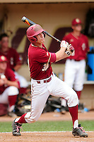 Boston College Eagles outfielder Donovan Casey (30) during a game versus the Notre Dame Fighting Irish at Pellagrini Diamond at Shea Field on May 15, 2015 in Chestnut Hill, Massachusetts.  (Ken Babbitt/Four Seam Images)