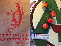 "6. ""King Bibi"": defaced poster depicting Prime Minister Netanyahu, near Tiberias, Galilee.<br />