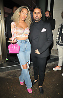 Dani Imbert and Liam 'Gatsby' Blackwell at the boohooMan Love Island Party, boohoo, Great Portland Street, on Thursday 07th October 2021, in London, England, UK. <br /> CAP/CAN<br /> ©CAN/Capital Pictures