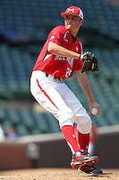 Pitcher Spenser Linney (25) during the 2010 Under Armour All-American Game powered by Baseball Factory at Wrigley Field in Chicago, New York;  August 14, 2010.  Photo By Mike Janes/Four Seam Images