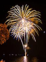 Fourth of July celebration fireworks from Kailua-Kona, Big Island.