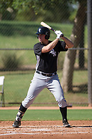Chicago White Sox first baseman Gavin Sheets (25) at bat during an Instructional League game against the Los Angeles Dodgers on September 30, 2017 at Camelback Ranch in Glendale, Arizona. (Zachary Lucy/Four Seam Images)