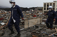 Rikuzentakata City, Iwate Prefecture, North East Japan. Rikuzentakata is one of the worst affected areas by the massive earthquake and tsunami that hit Northern East part of Japan on 11th.  5000 houses out of 8000 have been affected, over 1000 people still missing. Every town by the shores has been swept away by 10-15 meter high tsunami after the M10 earthquake. Every town by shores in the North East Japan has been swept away by the tsunami..16 Mar 2011