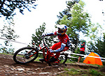 Gee Atherton (GBR) Downhill training sesion, UCI, Moutain Bike World Cup , Vallnord Andorra. 12/07/2018