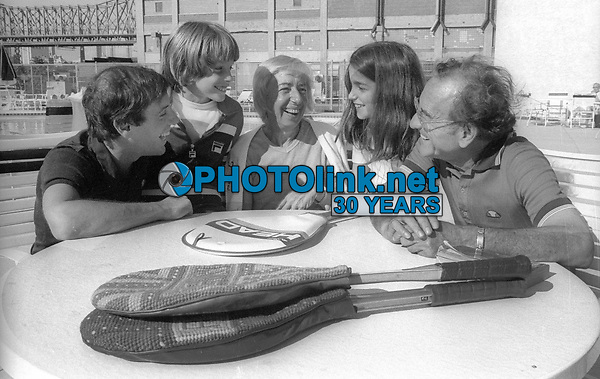 1978 FILE PHOTO<br /> New York City<br /> Studio 54 Co-owner Steve Rubell (l) and family<br /> Photo by Adam Scull-PHOTOlink.net