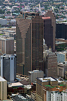 aerial photograph of the Capital One tower,  New Orleans, Louisiana