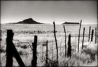 Border fence crossing the landscape<br />