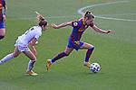 Liga IBERDROLA 2020-2021. Jornada: 18.<br /> FC Barcelona vs R. Madrid: 4-1.<br /> Olga Carmona vs Caroline Graham Hansen.