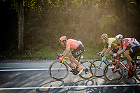 Greg VAN AVERMAET (BEL/CCC), Wout Van Aert (BEL/Jumbo-Visma) & Jens Keukeleire (BEL/Lotto-Soudal)<br /> <br /> 62nd E3 BinckBank Classic (Harelbeke) 2019 <br /> One day race (1.UWT) from Harelbeke to Harelbeke (204km)<br /> <br /> ©kramon