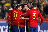Spain's Sergio Ramos, Diego Costa, Vitolo, Sergio Busquets and Gerard Pique celebrate goal during FIFA World Cup 2018 Qualifying Round match. March 24,2017.(ALTERPHOTOS/Acero) /NortePhoto.com