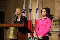 March3rd, 2014 -  Karine Belleau-Beliveau (L) and Jessica Zelinka  (R)<br /> <br /> Photo : Pierre Roussel