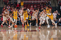Stanford, CA February 13, 2020. The Stanford Cardinal Men's Basketball team vs Arizona State Sun Devils at Maples Pavilion.  Stanford Cardinal falls to Arizona State Sun Devils 69-74