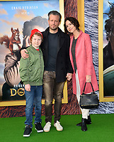 "LOS ANGELES, USA. January 11, 2020: Minnie Driver, Addison ODea & Henry Story Driver at the premiere of ""Dolittle"" at the Regency Village Theatre.<br /> Picture: Paul Smith/Featureflash"