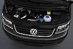 High angle engine detail of a  2010 Volkswagen Multivan Shuttle Comfortline Minivan