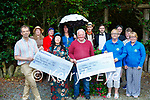 """Cheque Presentation: Members of the Memory Lane Theater group presenting cheques for €4,100.00 the proceeds of the production of """"Roadside"""" during the summer months to Kerry Hospice & Lixnaw Hospice on Tuesday evening last. Front : Jack Shanahan, Chairman Kerrry Hospice, Maria Conway, PJ Galvin, Patricia Heffernan & June O'Connor, Lixnaw Hospice. BacK : Grace & Siobhan Keane, Posin Power, Padraig Dennehy, Ciaran O'Murchu & Emily & Lydia Keane."""
