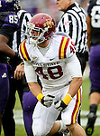 Iowa State Cyclones defensive end Cory Morrissey (48) in action during the game between the Iowa State Cyclones and the TCU Horned Frogs  at the Amon G. Carter Stadium in Fort Worth, Texas. Iowa State defeats TCU 37 to 23.