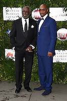 Richard Rountree and Samuel L Jackson<br /> arrives for the One for the Boys charity fashion event at the V&A Museum, London.<br /> <br /> <br /> ©Ash Knotek  D3133  12/06/2016