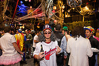 A colorful Halloween party at The Hiro Ballroom, Maritime Hotel in Chelsea