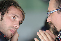 Toro Rosso French driver Jean Eric Vergne with Race Engineer Andrea Landi.24/03/2012 Grand Prix Malesia, Sepang , Essais..Foto Insidefoto  /Bernard Asset / Panoramic.ITALY ONLY..