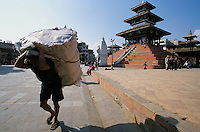 Merchandise carriers at Durbar square in Kathmandu City, Nepal