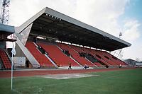 The main stand at Gateshead FC Football Ground, International Stadium, Neilson Road, Gateshead, pictured on 10th April 1993