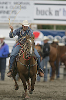 26 Aug 2010:  Houston Hutton was not able to score a time in the slack Tie Down Roping competition at the Kitsap County Stampede Wrangle Million Dollar PRCA Silver Rodeo Tour Bremerton, Washington.