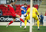 St Johnstone v Ross County...17.11.12      SPL.Liam Craig is closed down by Mihael Kovacevic.Picture by Graeme Hart..Copyright Perthshire Picture Agency.Tel: 01738 623350  Mobile: 07990 594431
