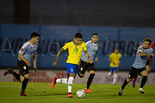 17th November 2020; Centenario Stadium, Montevideo, Uruguay; Fifa World Cup 2022 Qualifying football; Uruguay versus Brazil;  Roberto Firmino of Brazil