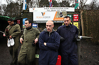 Pictured L-R: Ashley Williams, Leon Britton, David Cotterill and Stephen Dobbie. Tuesday 25 January 2011<br /> Re: Swansea City FC footballers and staff have spend a morning at Teamforce Paintball in Llangyfelach near Swansea south Wales.