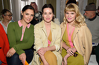 Anabell Scholey, Maimie McCoy and Hannah Arterton<br /> at the Jasper Conran show as part of London Fashion Week, London<br /> <br /> <br /> ©Ash Knotek  D3378  17/02/2018