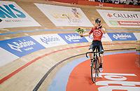 V for victory: Jasper de Buyst (BEL/Lotto-Soudal) wins the Omnium<br /> <br /> Lotto 6daagse Vlaanderen-Gent 2018 / Gent6<br /> day 5