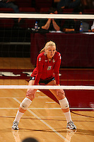 6 September 2007: Stanford Cardinal Alex Fisher during Stanford's 30-21, 30-28, 30-23 win in the Stanford Invitational against the St. Mary's Gaels at Maples Pavilion in Stanford, CA.