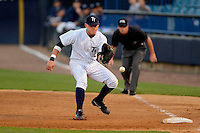 Tampa Yankees first baseman Matt Snyder #29 fields a ground ball during a game against the Lakeland Flying Tigers at Steinbrenner Field on April 6, 2013 in Tampa, Florida.  Lakeland defeated Tampa 8-3.  (Mike Janes/Four Seam Images)