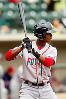 Michael Taylor #12 of the Potomac Nationals at bat against the Winston-Salem Dash at BB&T Ballpark on April 25, 2012 in Winston-Salem, North Carolina.  The Dash defeated the Nationals 14-0.  (Brian Westerholt/Four Seam Images)