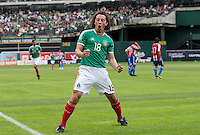 Andres Guardado celebrates his goal. Mexico defeated Paraguay 3-1 at the Oakland Coliseum in Oakland, California on March 26th, 2011.