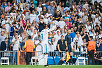Cristiano Ronaldo of Real Madrid celebrates scoring during the UEFA Champions League 2017-18 match between Real Madrid and APOEL FC at Estadio Santiago Bernabeu on 13 September 2017 in Madrid, Spain. Photo by Diego Gonzalez / Power Sport Images