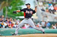 13 March 2012: Atlanta Braves pitcher Mike Minor on the mound during a Spring Training game against the Miami Marlins at Roger Dean Stadium in Jupiter, Florida. The two teams battled to a 2-2 tie playing 10 innings of Grapefruit League action. Mandatory Credit: Ed Wolfstein Photo