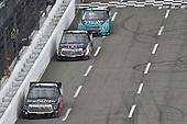 #18: Harrison Burton, Kyle Busch Motorsports, Toyota Tundra Safelite AutoGlass, #4: Todd Gilliland, Kyle Busch Motorsports, Toyota Tundra Mobil 1, #13: Johnny Sauter, ThorSport Racing, Ford F-150 Tenda Heal