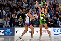 Claire Kersten of the Pulse during the ANZ Premiership match between the Pulse and the Stars at Fly Palmy Arena, Palmerston North, New Zealand on Sunday 18 April 2021.<br /> Photo by Masanori Udagawa. <br /> www.photowellington.photoshelter.com