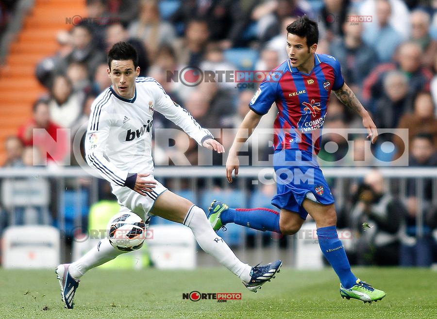 Real Madrid's Callejon during La Liga BBVA match. April 6, 2013.(ALTERPHOTOS/Alconada)